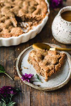 Vegan Desserts, Delicious Desserts, Dessert Recipes, Vegan Treats, Healthy Treats, Vegan Recipes, Vegan White Chocolate, Gluten Free Pie, Vegan Blueberry
