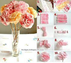Flores de papel crepom