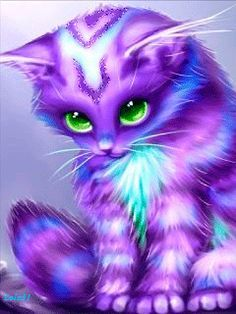 Aprille sale cute diamond embroidery icon animals purple cat diamond painting mosaic pattern rhinestones picture by numbers Cat Wallpaper, Cute Wallpaper Backgrounds, Animal Wallpaper, Cute Animal Drawings, Kawaii Drawings, Cute Drawings, Cross Paintings, Animal Paintings, Cute Fantasy Creatures