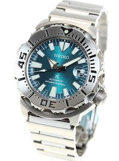 Shop for Seiko Men's Prospex Stainless Steel Automatic Watch Get free delivery On EVERYTHING* Overstock - Your Online Watches Store! Stainless Steel Watch, Stainless Steel Bracelet, Cool Watches, Watches For Men, Wrist Watches, Seiko Monster, Seiko Diver, Seiko Men, Best Watch Brands