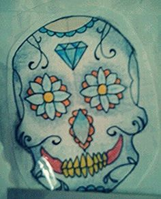 Banshee's tatoo SugarSkull