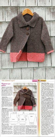 Infantil kardigan por los rayo Crochet For Kids, Knit Crochet, Knit Patterns, Baby Knitting, Lana, Knitwear, Kids Fashion, Sweaters For Women, Pullover