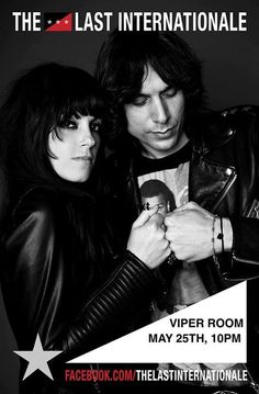 "#1499vs1771 - #NAFTA vs #Glass_Steagall #union #occupy #BLM  THE LAST INTERNATIONALE VIPER ROOM | West Hollywood   http://www.eventdaddy.net/west-hollywood/the-last-internationale-viper-room/  What's happening?  Founded by NYC natives Delila Paz & Edgey Pires, TLI quickly forged a reputation for poetic, socially conscious songs & explosive live performances. ""The Last Internationale are one of my favorites in the next wave of rebel rockers. They're raw and real and mix East Village rock…"