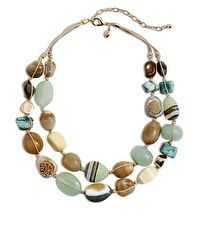 Heada Double-Strand Agate Necklace