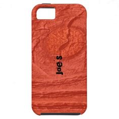 Red Knotty Wood iPhone 5 Covers by Florals by Fred #zazzle #gift #photogift
