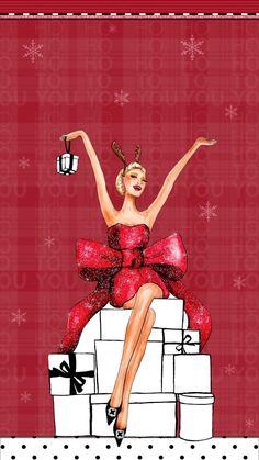 #xmas #girl #wallpaper #iphone #android #theme #holiday #christmas