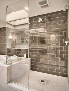 Contemporary Bathroom Ideas with Transparent Shower Bath