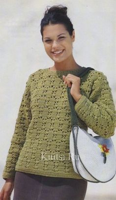 """Sweater with a pattern of """"cones"""""""