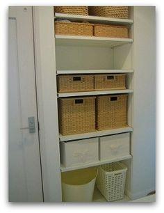 【洗面所の収納】 - simple+white