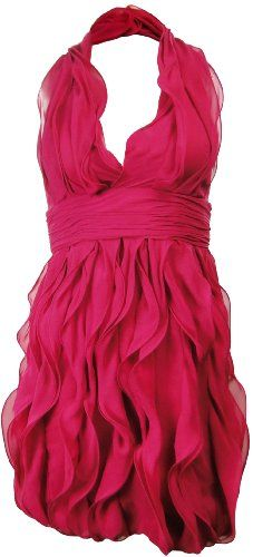 Calvin Klein Women's Electric Pink Ruffle Halter « Clothing Adds for your desire Cute Dresses, Vintage Dresses, Casual Dresses, Pink Fashion, Fashion Show, Womens Fashion, Calvin Klein, Fashion Corner, Pink Dress