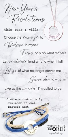 ✨A Mindful New Year's Activity!✨Ask your loved ones for their WORD of intention. Gift them a handstamped bracelet as a daily reminder of their hopes, dreams, or what matters most. As seen on the Today Show and O, The Oprah Magazine. Quotes To Live By, Me Quotes, Motivational Quotes, Inspirational Quotes, Positive Affirmations, Positive Quotes, Quotes About New Year, Inspire Me, Life Lessons