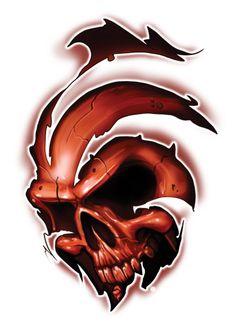 Ripping Through Skull Temporary Tattoos - Skull Mix Tattoos