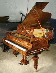 Antique, Bechstein Model A Grand Piano with a Burr Walnut Case by Besbrode Pianos Leeds, via Flickr