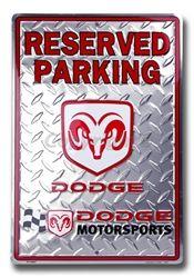 Reserved Parking Dodge Motorsports Racing Novelty Embossed Vanity Metal Parking Sign PS30067