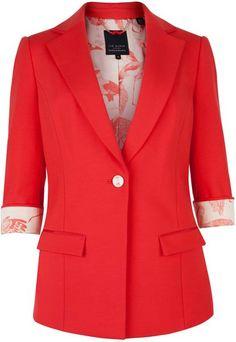 0224ae97a096 TED BAKER LONDON Belios Cropped Sleeves Blazer - Lyst Weather Wear, Warm  Weather, Blazer
