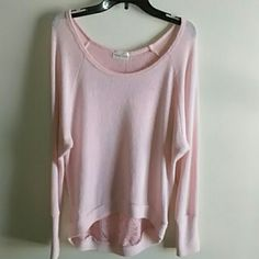 Blush colored lacy hi lo sweater Beautiful condition. Only wore twice. Very cute Mary jane Tops Blouses