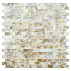 Mosaic Tile in Beige (Set of 10)