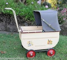 Image result for images of vintage 1940,s royale dolls prams