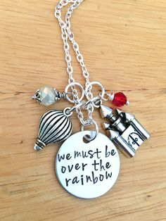 We Must Be Over The Rainbow Wizard Of Oz by BloomGirlJewelry