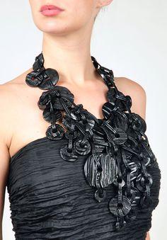Monies Jewelry, Brass Jewelry, Leather Jewelry, Pearl Jewelry, Jewelry Art, Jewelery, Jewelry Design, Ceramic Jewelry, Funky Jewelry