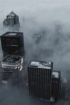 cityscape buildings skyscraper animated gif