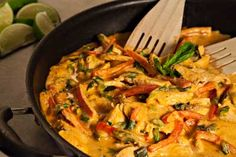 Super Simple Red Curry Chicken. I would add a bag of stir fry veggies for extra vitamins!