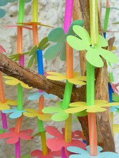 - Meine grüne Wiese: Ellas Strandparty (Die Blumenketten) My green meadow: Ellas beach party (The flower chains) Fall Crafts For Kids, Diy For Kids, Diy And Crafts, Kids Beach Party, Beach Flowers, Activities For Kids, Art Projects, Blog, Seashell Crafts