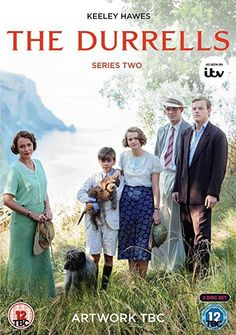 Keeley Hawes, Josh O'Connor, Milo Parker, Daisy Waterstone, and Callum Woodhouse in The Durrells Bournemouth, Bbc Tv Shows, Movies And Tv Shows, The Durrells In Corfu, Gerald Durrell, Tv Series 2016, Book Writer, Les Miserables, Period Dramas
