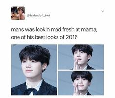 Oml this be da loml ❤ he be looking amazing all the time
