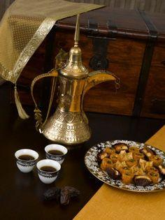 Arabian coffee and mini oriental sweets (Kunafa and Baqlawa). Arabian coffee and mini oriental sweets (Kunafa and Baqlawa). Arabic Tea, Arabic Coffee, Arabic Sweets, Arabic Food, Espresso, Eastern Cuisine, Middle Eastern Recipes, Tea Ceremony, Best Coffee
