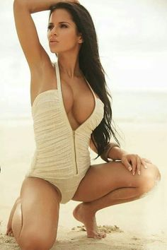 Sexy withe swimsuit