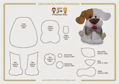cute felt dog pattern great for charm on bag Felt Animal Patterns, Stuffed Animal Patterns, Dog Ornaments, Felt Christmas Ornaments, Dog Crafts, Felt Crafts, Dog Template, Felt Dogs, Dog Pattern