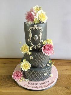 Grey & Silver - Cake by Alanscakestocraft