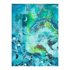 NOVICA Modern Mexico Stream of Consciousness Painting ($443) ❤ liked on Polyvore featuring home, home decor, wall art, backgrounds, abstract paintings, paintings, modernism paintings, modern wall art, novica and novica home decor