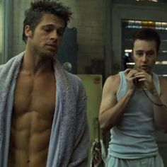 Brad Pitt and Edward Norton in Fight Club I'm heartbroken that Brad and Fincher won't work together again (at least anytime soon)… Fight Club Brad Pitt, Fight Club 1999, Brad Pitt Hair, Young Brad Pitt, Brad Pitt Troy, Marla Singer, Brad Pitt And Jennifer, M Jack, Tyler Durden