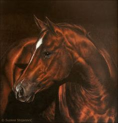 Flame 2006.  Original pastel drawing by Suzana Stojanovic  Series The Magical World of Horses