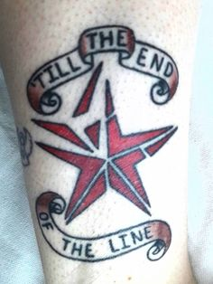 My Winter Soldier Tattoo, for my best friend.  Till the end of the Line.  Done in Missoula, Montana.  #Winter Soldier #Tattoo #End of the line
