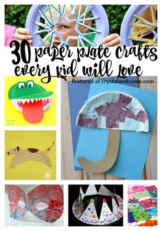 30 paper plate craft for kids