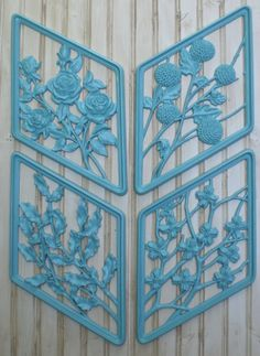Set4 Retro Syroco Wall Art Hangings Home by redshedvintage on Etsy, $28.00