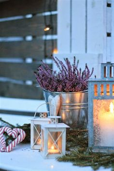 winter decoration with romance and style