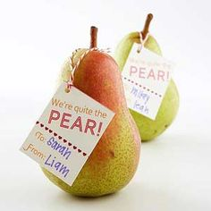 Valentine Pear with Label
