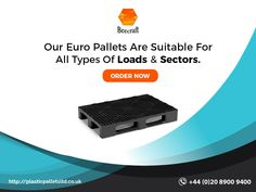 Euro pallets are of standard dimensions and high-load capacity for allowing maximum load storage and transportation. Specially designed for easy forklift, and corners prepared for optimum shrinkage. Information About Plastic, Euro Pallets, Plastic Pallets, Pallet Crates, Transportation, Storage, Easy, Larger, Storage Ideas