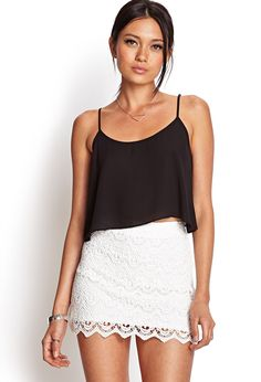 Scalloped Lace Skirt | FOREVER21 #SummerForever #Lace
