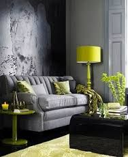 Image result for citron and grey interiors