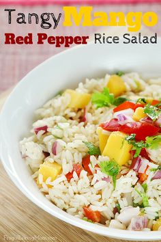 I whipped up a yummy Tangy Mango Red Pepper Rice Salad that could be eaten alone for lunch or as a side.  It is super easy and comes together in just a few minutes. If you are looking to serve a larger bunch, simply double or triple the recipe. LunchWithMinute  AD @MinuteRiceUS
