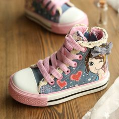 2013 doodle shoes autumn expert skills child canvas shoes girls shoes princess shoes skateboarding shoes $23.17