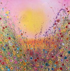 Preeeeetttttttty...       Golden Kisses  Medium: Original oil on canvas  Size: 100cm x 100cm  Signed and titled on the back by Yvonne Coomber.