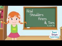 Canción para aprender partes del cuerpo - Head Shoulders Knees & Toes