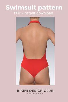 Swimsuits, Bikinis, Swimwear, Swimsuit Pattern, One Piece Swim, Paper Size, Perfect Fit, Boobs, Size 2