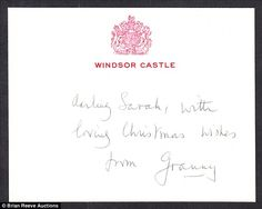 Andrew's ex-wife, Sarah Ferguson, was sent a similar tag by the late Queen mother